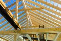 Wooden roof construction symbolic photo home home construction home financing Stock Photography