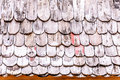 Wooden roof detail of traditional made from Royalty Free Stock Photo