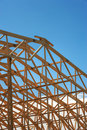 Wooden Roof Frame Royalty Free Stock Images
