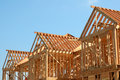 Wooden Roof Frame Royalty Free Stock Photo