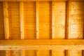 Wooden roof seen from below Royalty Free Stock Images