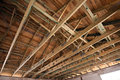 Wooden roof structure Royalty Free Stock Images