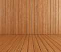 Wooden room Stock Photography