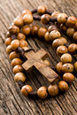 Wooden rosary beads Royalty Free Stock Photography