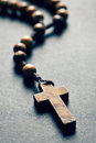 Wooden rosary beads Royalty Free Stock Photo