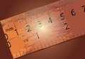 Wooden ruler closeup on dark background eps Stock Photo