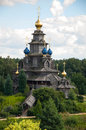 Wooden Russian church Royalty Free Stock Photo
