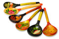 Wooden Russian spoons Stock Image