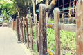 garden wooden wood fence Royalty Free Stock Photo