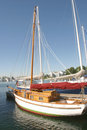 Wooden Sailboat Royalty Free Stock Image