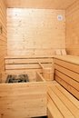 Wooden sauna cabin Royalty Free Stock Photos