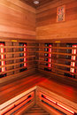 Wooden Sauna interior Royalty Free Stock Photo