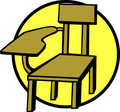 Wooden school chair vector illustration Stock Image