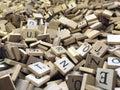 Wooden Scrabble tiles Royalty Free Stock Photo