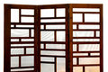 Wooden screen Stock Images