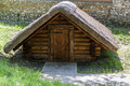 Wooden shed old summer sunny day Stock Photo