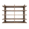Wooden shelves d rendering on white background Stock Images