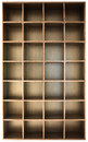 Wooden shelves empty for different things Royalty Free Stock Photos
