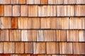 Wooden shingle background Stock Images
