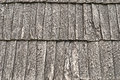 Wooden shingle roof Stock Images