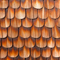 Wooden Shingles Background Pattern Stock Image