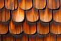 Wooden Shingles Background Pattern Royalty Free Stock Photo