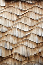 Wooden shingles texture weathered brown Royalty Free Stock Photos