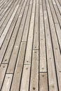 Wooden ship deck perspective view of a Royalty Free Stock Photography