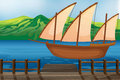 A wooden ship illustration of Royalty Free Stock Image