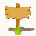 Wooden sign boards on a grass vector illustration Stock Photography