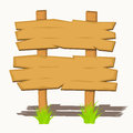Wooden sign boards on a grass vector illustration Stock Images