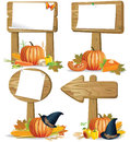 Wooden sign boards Thanksgiving Royalty Free Stock Photo