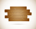 Wooden sign this is file of eps format Royalty Free Stock Photography