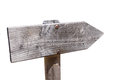 Wooden sign post or road sign Royalty Free Stock Photo