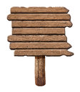 Wooden signboard. Old road sign made from wood. Royalty Free Stock Photo