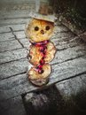 Wooden snowman Royalty Free Stock Photo