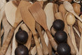 Wooden souvenir traditional kitchenware Royalty Free Stock Photo
