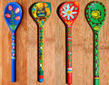 Wooden Spoons Painted Royalty Free Stock Photo