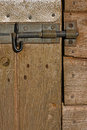 Wooden stable door detail Royalty Free Stock Photography