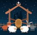 Wooden stable manger icon Royalty Free Stock Photo