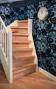 Wooden stair Stock Image
