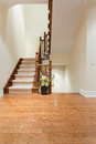 Wooden staircase interior Royalty Free Stock Photo