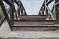 Wooden stairs in the dunes Royalty Free Stock Photo