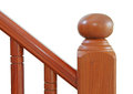 Wooden stairs and handrail decorative part of stair Stock Photography
