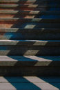 Wooden stairs staircase painted bright colors in the fortress of nis Stock Photography