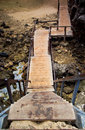 Wooden stairs to the beach on phi phi island of thailand Stock Photo
