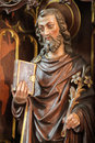 Wooden Statue of Saint Joseph Royalty Free Stock Photo