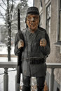 Wooden statue of a soldier Royalty Free Stock Photo