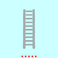 Wooden step ladder it is icon . Royalty Free Stock Photo