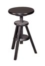 Wooden stool old dark in white back Stock Photography